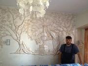 Декоративная штукатурка леонардо.Барельефы роспись стен - foto 3