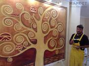 Декоративная штукатурка леонардо.Барельефы роспись стен - foto 6